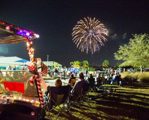 Fireworks at Light Up Viera Parade 2016 | Florida