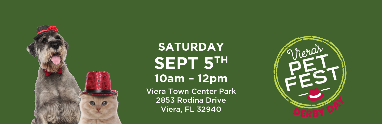 Viera's Pet Fest Derby Day Sept 5th 10am - noon @ Viera Town Center Park